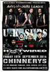 Anti-Nowhere League + U.K. Subs + Hotwired - Live at Chinnerys, Southend-on-Sea, Essex - Friday September 19th, 2014 - Poster