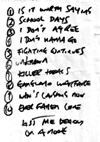 The Bullies - Live at Chinnery's - 15.05.08 - Set List