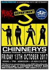 Department S + Menace + Eastfield - Live at Chinnerys, Southend-on-Sea, Essex, Friday October 13th, 2017 - Poster