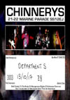 Department S + Menace + Eastfield - Live at Chinnerys, Southend-on-Sea, Essex, Friday October 13th, 2017 - Ticket