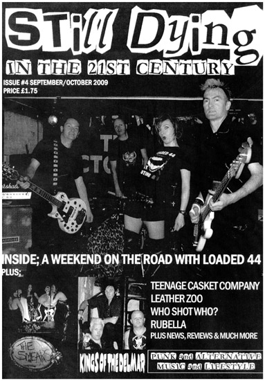 Southend Punk Rock History - 'Still Dying in The 21st Century' Fanzine - Issue 4 - September / October 2009