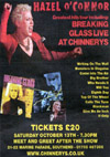 Hazel O'Connor + Tensheds - Live at Chinnerys, Southend-on-Sea, Essex - Saturday October 13th, 2012