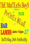 The Mattless Boys + Protex Blue - Live at Bar Lambs, Westcliff-on-Sea, Essex - 26.02.11