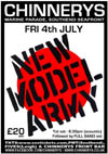 New Model Army - Live at Chinnerys, Southend-on-Sea, Essex - Friday July 04th, 2014