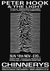 Peter Hook & The Light + Tiny Phillips - Live at Chinnerys, Southend-on-Sea, Essex - Sunday November 18th, 2012