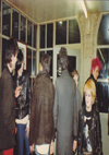 Chelmsford Punks - Chris, Dave, Neil, Lynda, Angie and Colin at Blankenberg Station 20.02.82