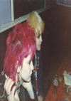 Chelmsford Punks - Claire and Karen in a bar in Ostend 20.02.82