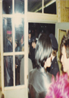 Chelmsford Punks - Dave and Chris with Police at Blankenberg 20.02.82