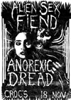 Alien Sex Fiend + Anorexic Dread - Live at Crocs - 18.11.83 - Poster