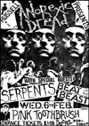 Anorexic Dread + Serpents + Beat of The Beast - Live at The Pink Toothbrush - 06.02.85 - Poster