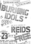 The Kronstadt Uprising + The Burning Idols + The Prey - Live at Reids - 23.12.85 - Poster #2