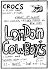 The London Cowboys - Live at Crocs - 19.08.83 - Flyer