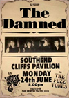The Damned + The Fuzztones + Doctor and The Medics - Live at The Cliffs Pavilion - 24.06.85 - Poster