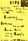 Kronstadt Uprising + Allegiance To No One + Autumn Poison - Live at 'Sids', at Annabellas - 28.05.83 - Poster