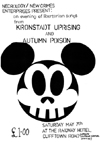 Kronstadt Uprising + Autumn Poison - Live at The Railway Hotel - 07.05.83 - Poster