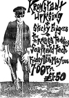 The Kronstadt Uprising + Sticky Fingers + The Armless Teddies - Live at The Southend College of Technology - 16.05.86 - Poster