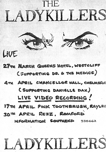The Ladykillers - Live Dates - 1986 - Flyer