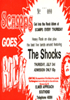 The Shocks - Live at Scamps - 03.07.80 - Ticket
