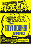 The Steve Hooker Band - Live at Scamps - 10.07.80 - Poster