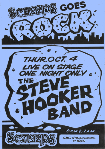 The Steve Hooker Band - Live at Scamps - 04.10.79 - Poster