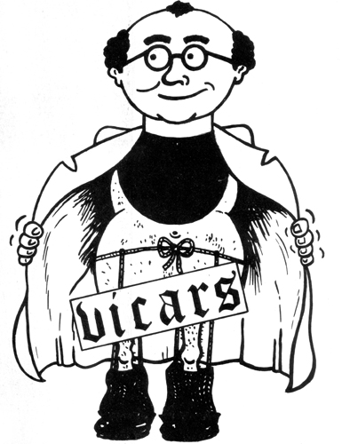 The Vicars Logo - Sticker