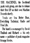 The Machines - Evening Echo News Report
