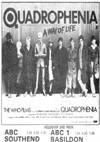 Quadrophenia at The ABC, Southend - Newspaper Advert