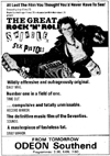 The Great Rock 'n' Roll Swindle at The Odeon, Southend - Newspaper Advert