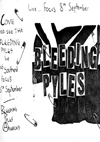 The Bleeding Pyles - Live at Focus - 08.09.80 - Poster
