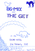 86-Mix + The Get - Live at The Grand - 21.02.82 - Poster