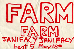 Janifacy Farm - Live at Shrimpers in Heat 5 of The Rock Contest - 18.05.80 - Poster