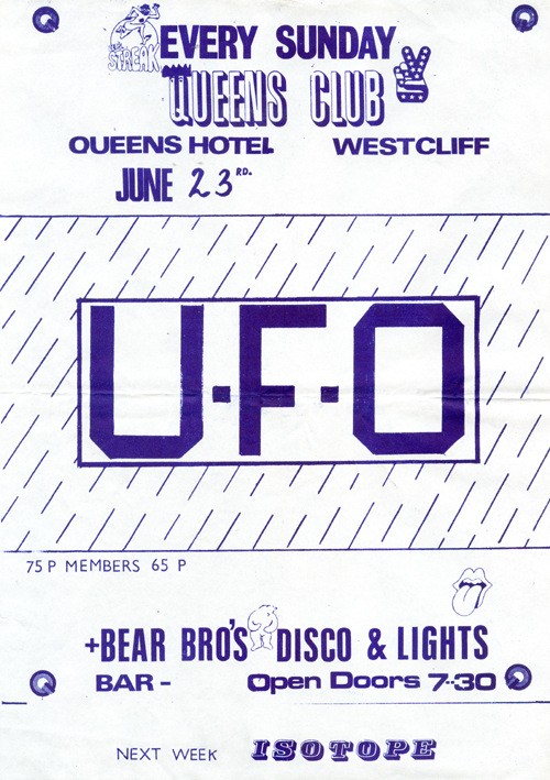 U.F.O. - Live at The Queens Hotel - 23.06.74 - Flyer