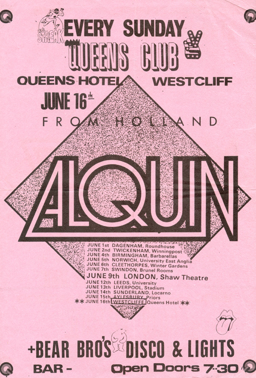 Alquin - Live at The Queens Hotel - 16.06.74 - Flyer