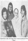 John Seigal, Denis Fewtrell, Jon Paul & Peter Brewer - Photograph From Evening Echo, Early 1980's