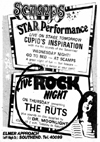 The Ruts - Live at Scamps - 15.03.79 - Press Advert