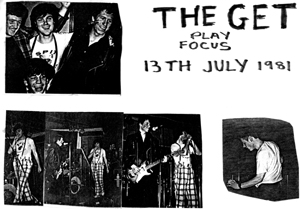 The Get - Live at Focus - 13.07.81 - Poster