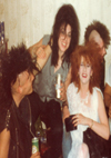 Michele, Donald, Pat and friend at party - 1983