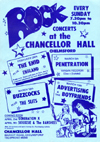 Rock Concerts at The Chancellor Hall, Chelmsford - 1978 - Flyer