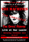 Southend Punk Reunion #5 - A Celebration of 30 Years of Punk 1977 - 2007, featuring The Machines, The Convicted + The Optic Nerves at Bar Lambs, Westcliff-on-Sea, Essex on Saturday December 22nd 2007