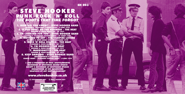 Steve Hooker - 'Punk Rock 'n' Roll - The Boots That Time Forgot' - CD