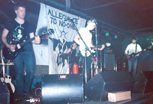 Allegiance To No One - Andy, Guy, Mike & John - Live at The Pink Toothbrush 1985