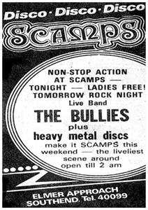 The Bullies - Live at Scamps - Press Advert