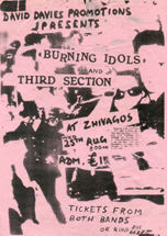 The Burning Idols live at Zhivagos - 23.08.82
