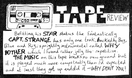 Strange Stories Tape Review of 'Why Bother' by Captain Strange