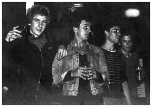 The Decibels - Andi/Paul/Gary/Pete - at Chords/Speedball Gig at The Lindisfarne Centre, Westcliff, 1979
