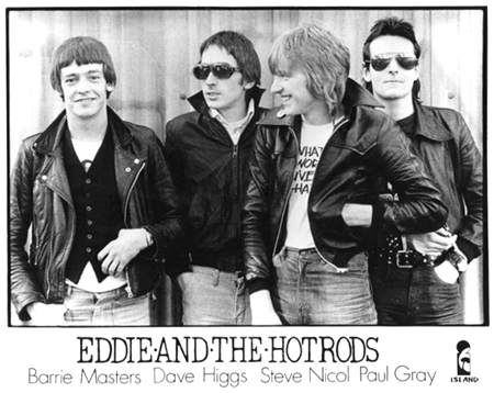 Eddie and The Hot Rods - Promo Photo (L-R: Barrie Masters, Dave Higgs, Steve Nicol & Paul Gray)