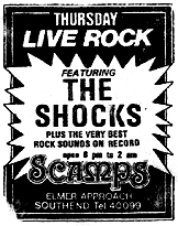 The Shocks - Live at Scamps - Ticket