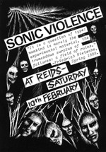Sonic Violence - Live at Reids Poster