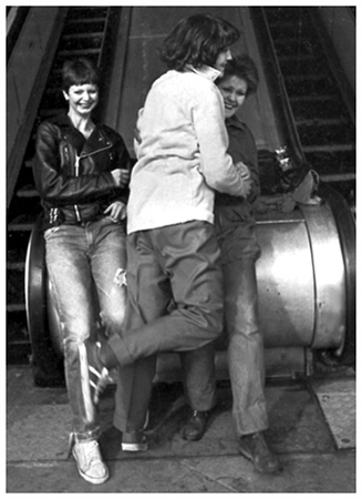 The Vandals - Sue, Kim and Alf - Photograph by Mark Saunders