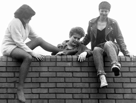 The Vandals - L-R: Kim, Alf and Sue (Photograph care of Richard Seager's Archive)